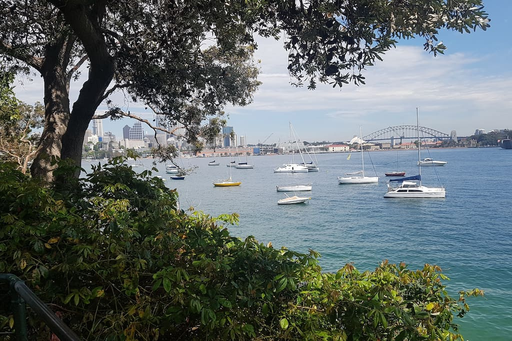 View of Sydney Harbour a 5 minute walk away