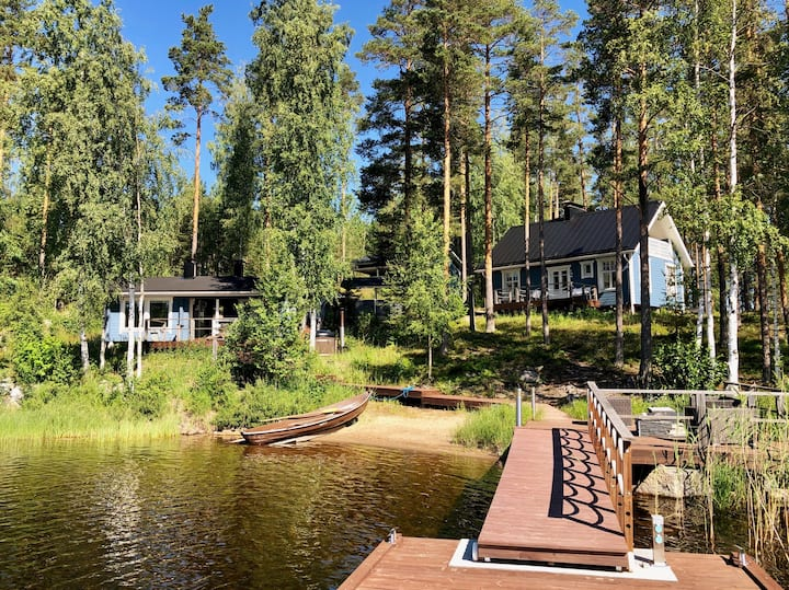 Great & private cottage complex by the lake Saimaa