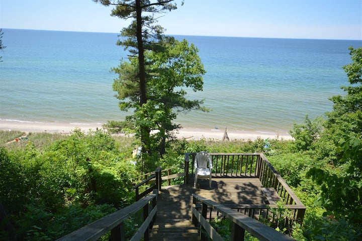 Dune Gables gives you private Lake Michigan beach frontage!