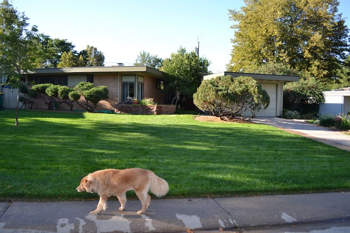 Mid-century home with private 2 bedroom suite