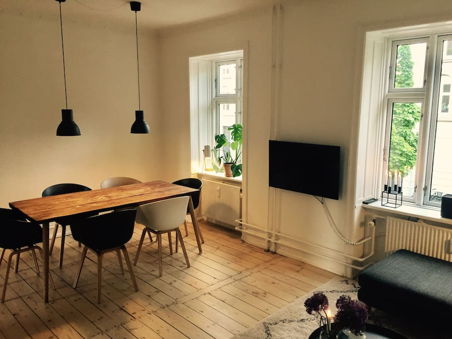 Nordic style dining table and furniture