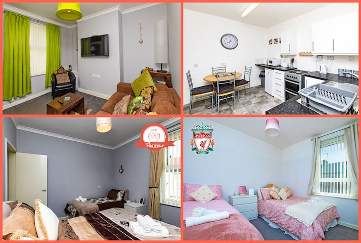 ★Whole house 3 min walk from LFC & FREE PARKING!★