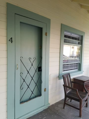 Private entrance off porch