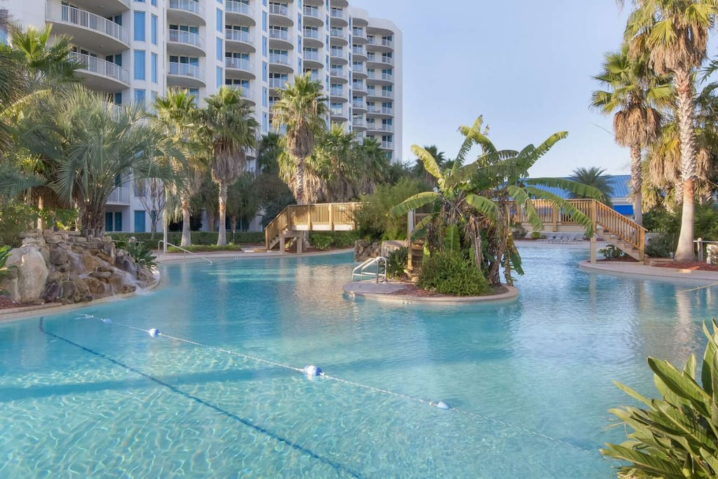 Enjoy the zero entry lagoon pool and the beautiful landscape that surrounds it