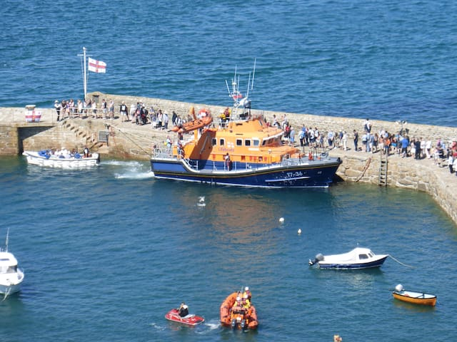 Penlee lifeboat in St Michael Mount.