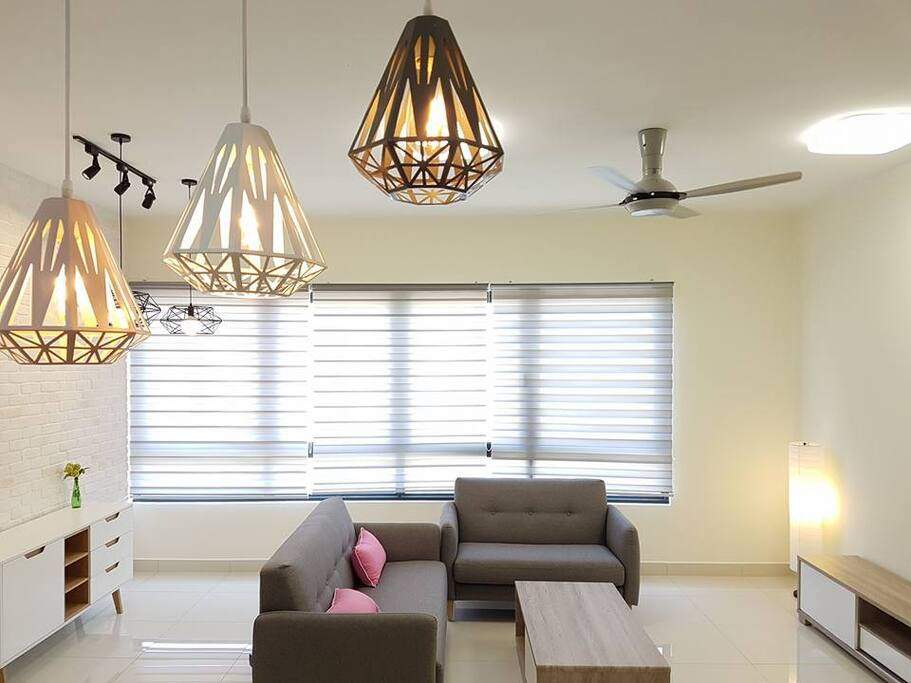 Furnish with lighting, fan and air cond