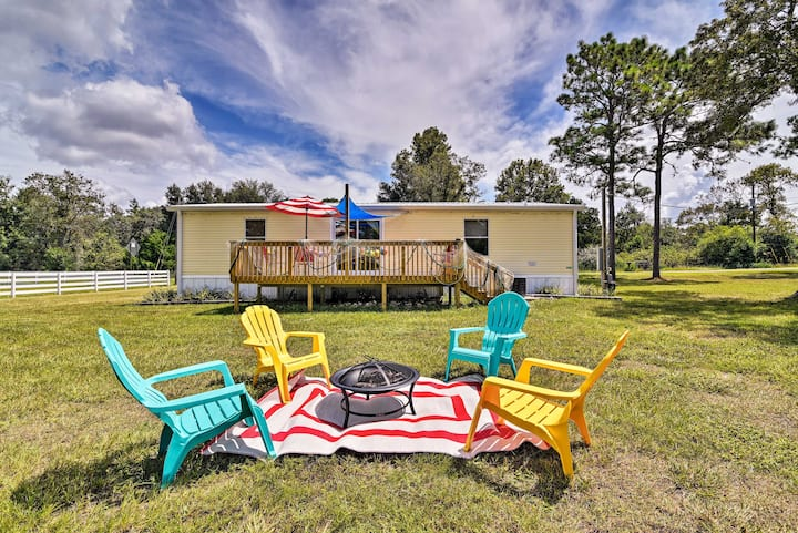 Nautical Home w/ Kayaks+Deck on 1 Acre by Manatees