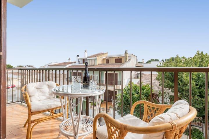 Encantador apartamento a orillas de la playa más extensa de Mallorca - Can Aleix