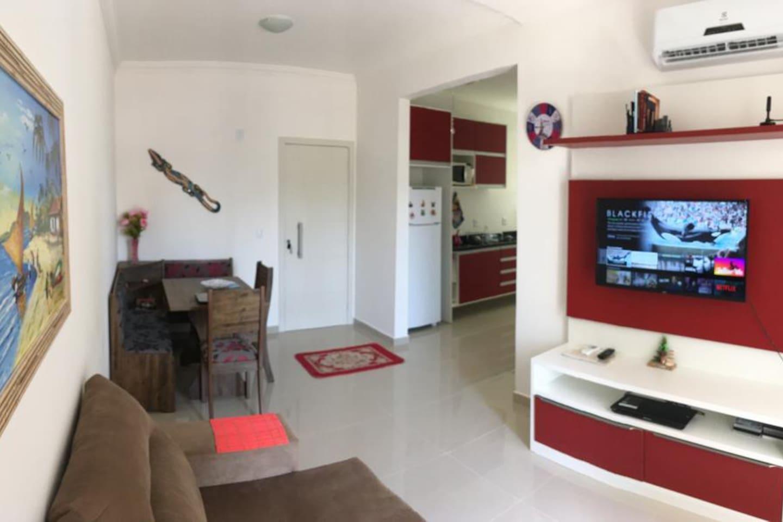 Visão sala/cozinha
