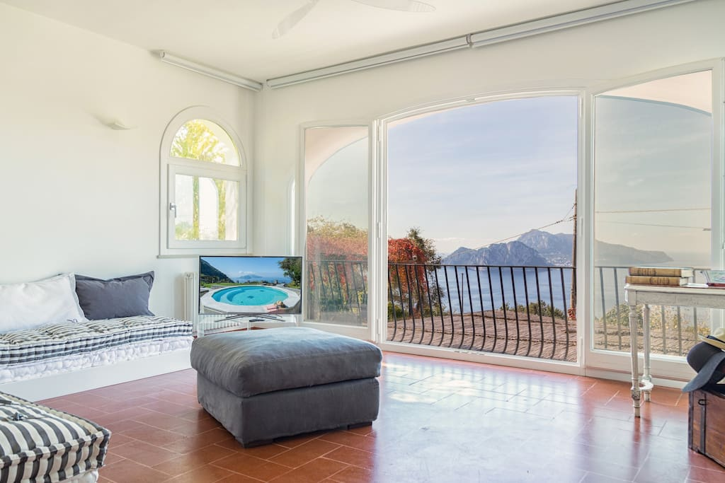 Capri from the  living room on the  first floor