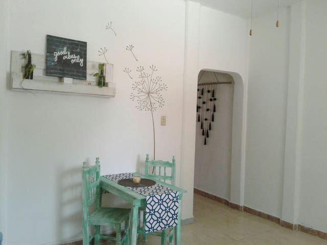 Cozy and fresh apartment, 3 min walk to the beach - Puerto Morelos - Apartmen