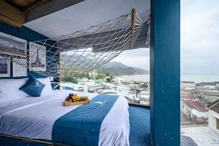 Phòng giường đôi - Pari nhìn ra đại dương