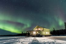 You will not find a better location for Aurora in Yellowknife.  This our own private lake.