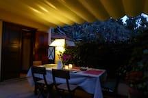 The terrace/La terraza