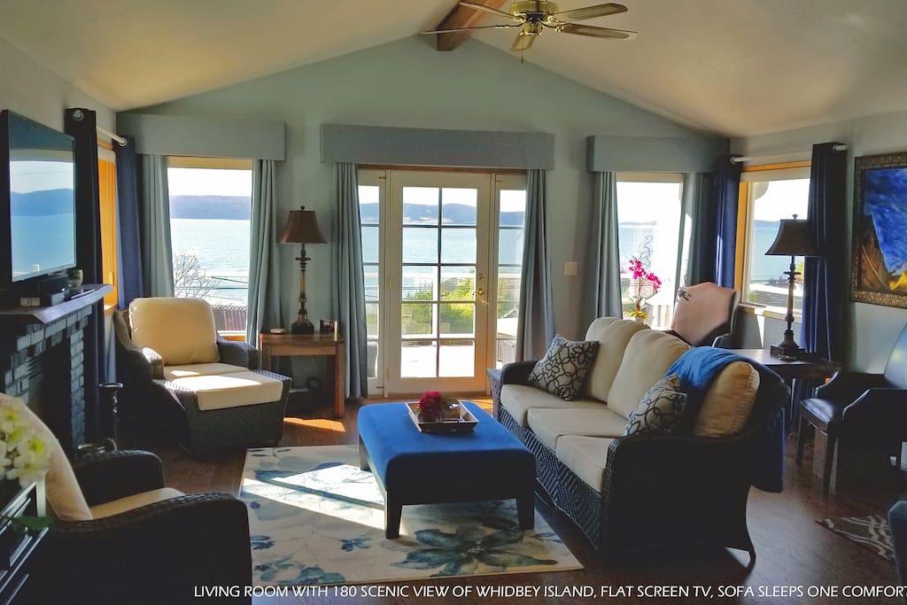 Cozy, casual beach living room