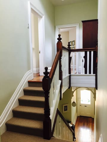 Own private entrance with 4 large rooms & private hallway
