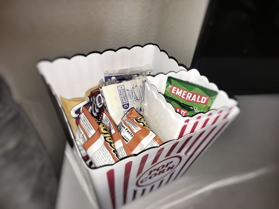 Snacks to enjoy in your room while watching a movie or documentary.