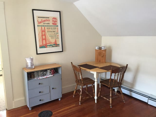 Upstairs apartment with kitchenette