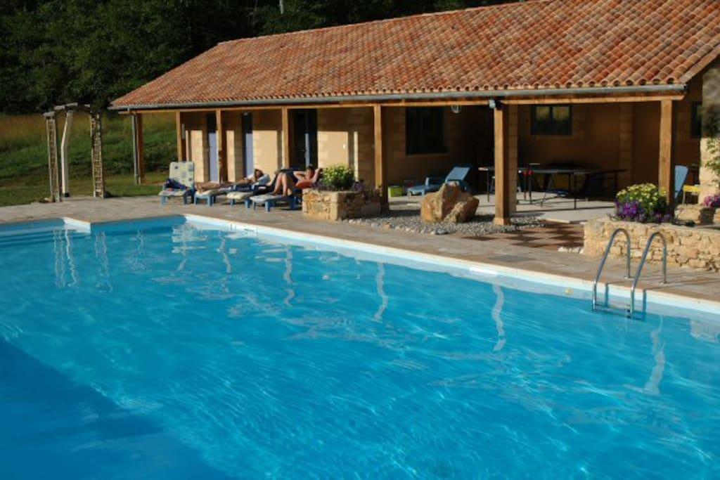 Swimming Pool, Heated, chlorine-free, and sports hall
