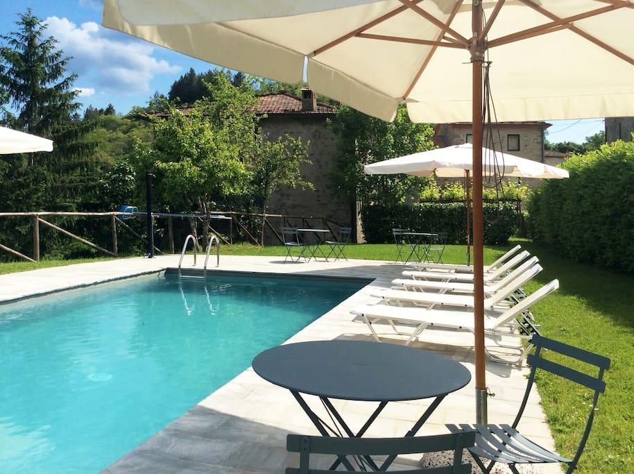 Maison vacances la spilla piscine appartements louer for Location maison piscine italie