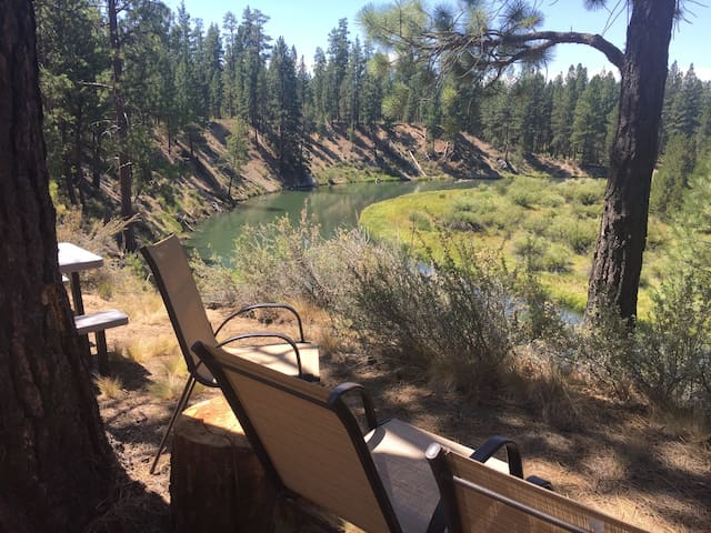 Cabin-Apt in the Forest & on the Deschutes River
