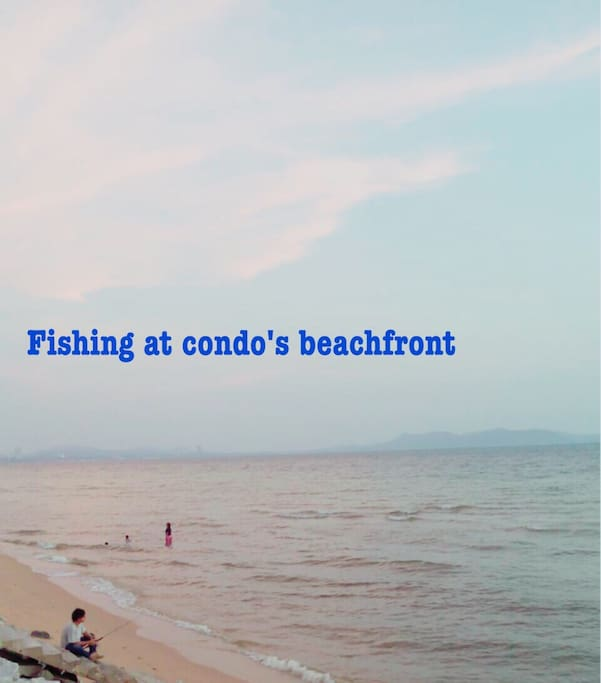 Nice and clean beach compared with central pattaya,suitable for playing sand,fishing,volleyball or swimming.