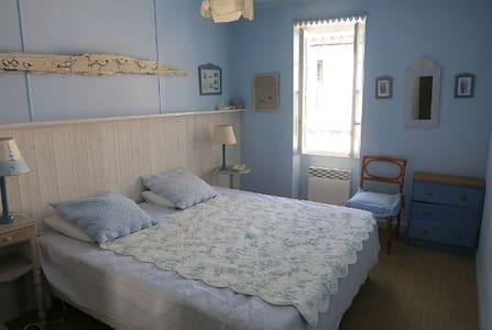 Chambre bleue dans maison charmante au Bois-Plage! - Le Bois-Plage-en-Ré