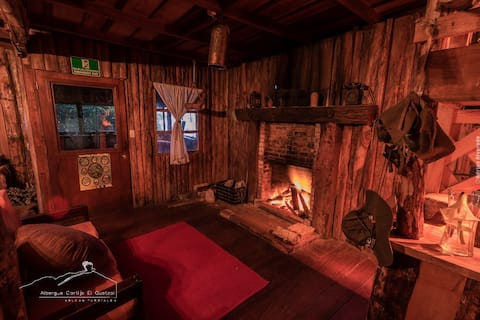 Rustic cabin on the slopes of a Volcano