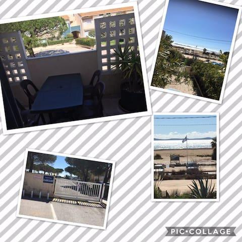 Appartement  50 mètres de la plage hyeres 83