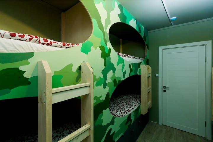 """""""Malinka hostel"""" Place in 8-bed room """"Kalashnikov"""""""