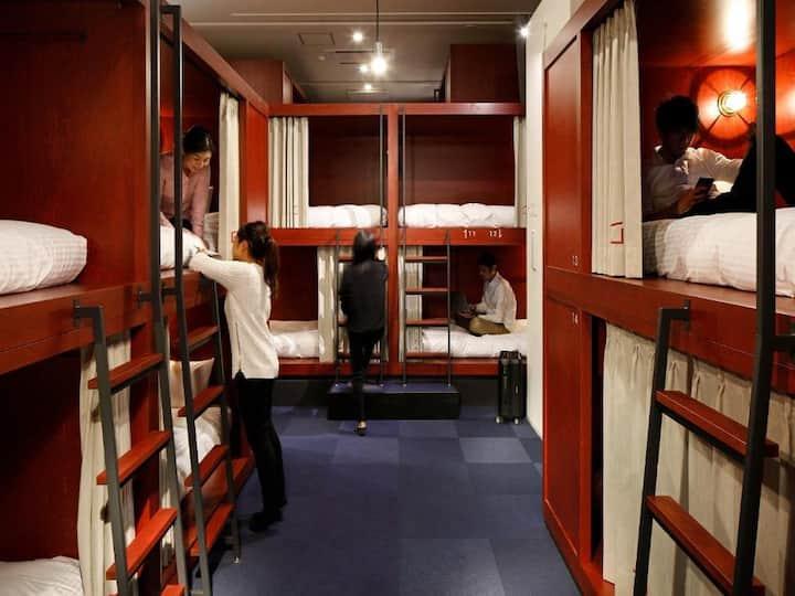 3mins->Suehirocho/3 beds in 24ppl Mixed Dorm