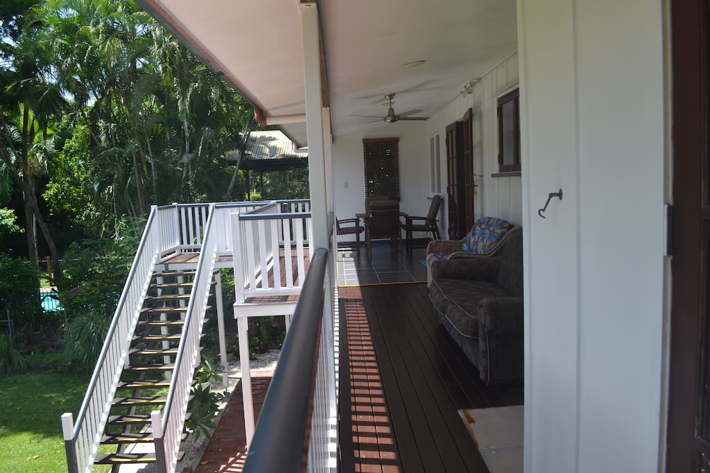 back deck of the house