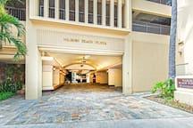 Waikiki Beach Tower Lobby Entrance