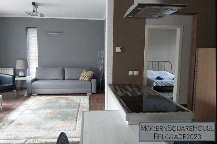 Modern Square House-brandNew&flexible check ins