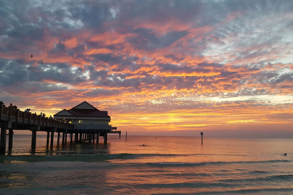 Clearwater Beach Pier 60 sunset