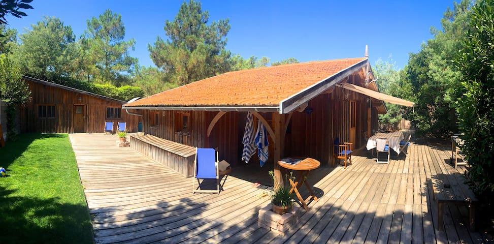 Cabane en bois au cap ferret houses for rent in l ge cap ferret aquitaine - Maison bois cap ferret ...