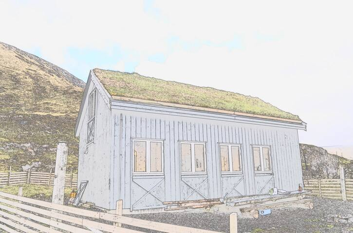 Hut front view