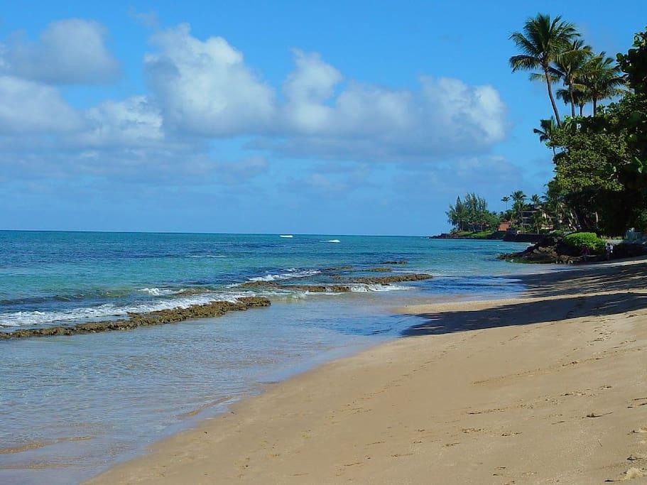 Park beach next door to Paki Maui