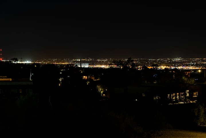 Night view of the city lights