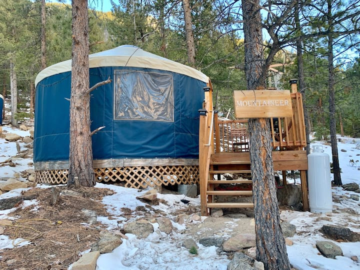 Adventurous Mountain Yurt with Full Bed & Bunk Bed
