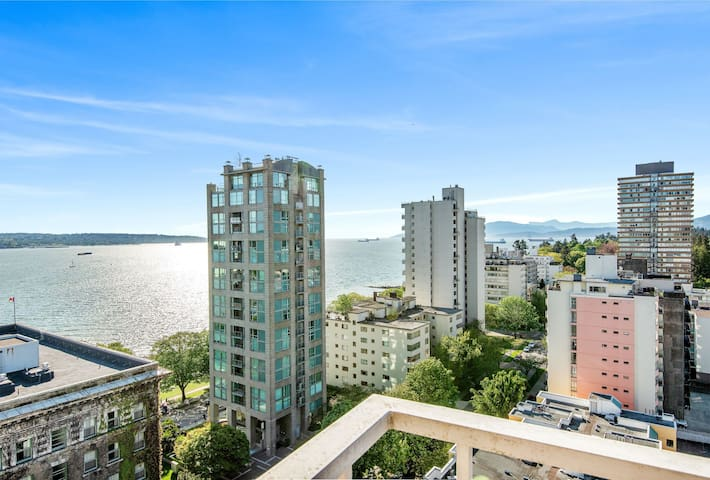 English Bay Views Here! One Bedroom Apartment.