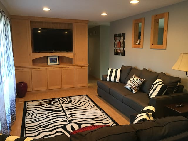 Cozy living room with Smart TV