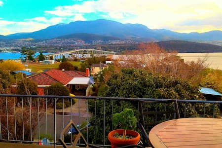 180 views looking over Hobart - Talo
