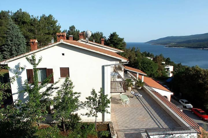 Four bedroom apartment with balcony and sea view Rabac, Labin (A-3011-a) - Rabac