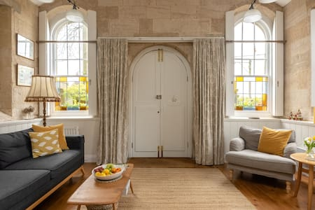 Soak up the Soft, Sunny Decor at a Former Village Chapel