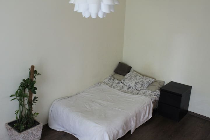 Big size bed suitable for two people.