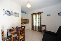 2nd room includes one double bed sofa and the kitchenette