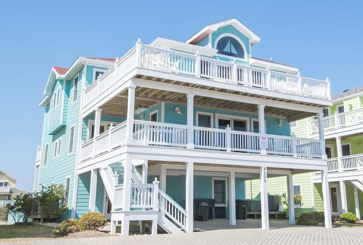 K0141 Jockey's Ridge Haven.Semi-Oceanfront, Pool, Cabana, Specials!!| Sleeps:8 Bedroom, 8 Bathroom