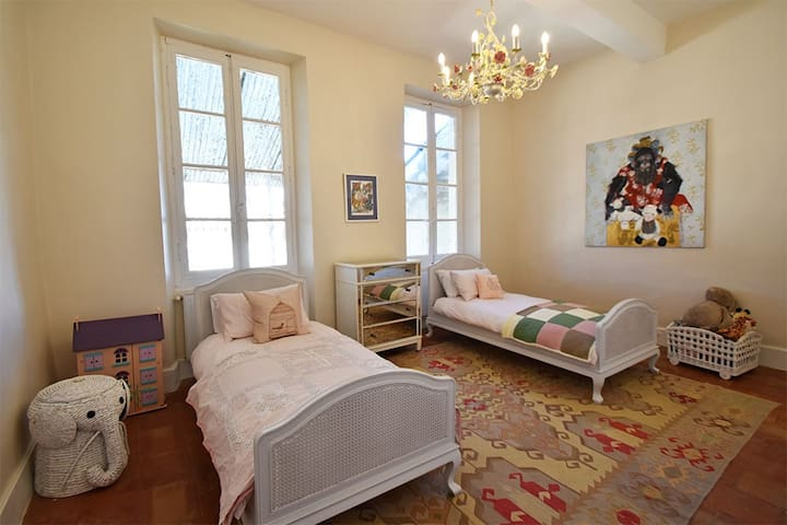 Twin single bedroom - ideal for children, but comfortable for adults too.