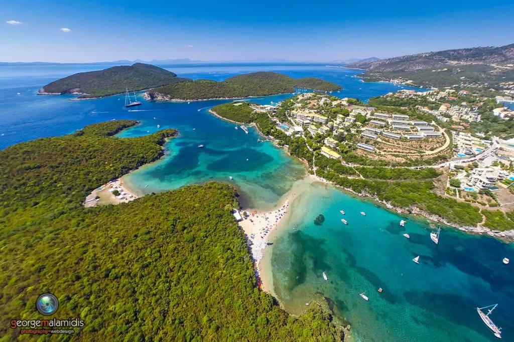 Bella Vraka - aerial view